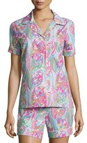 BedHead Sergeant Pepper Shorty Pajama Set, Pink/Turquoise, Women's