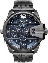 Diesel Men's Chronograph Uber Chief Gunmetal Ion-Plated Stainless Steel Bracelet Watch 55x62mm DZ7392