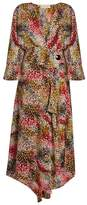 Marni Mist-print silk-crepe wrap dress
