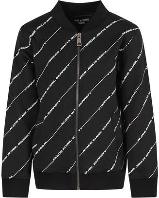 Neil Barrett Black Sweatshirt For Boy With White Logo