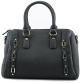 MG Collection Bowler Tote Bag Synthetic Satchel.
