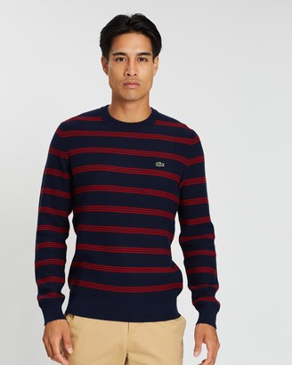 Lacoste Classic Stripe Crew Neck Knit