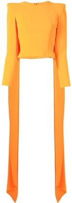 Alex Perry Regan cape-back structured top