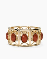 White House Black Market Red Jasper Cutout Stretch Bracelet