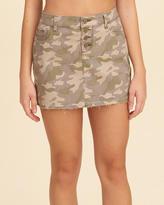 Hollister Button Fly Camo Twill Mini Skirt