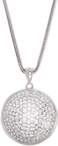 Love Rocks Crystal & Silvertone Magnified Pendant Necklace