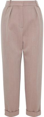 Victoria Beckham Cropped Wool-blend Slim-leg Pants