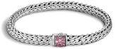 John Hardy Women's Classic Chain 6.5MM Bracelet in Sterling Silver with Pink Spinel