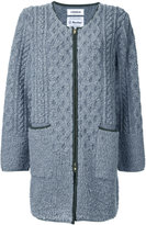 Coohem pile aran knit coat