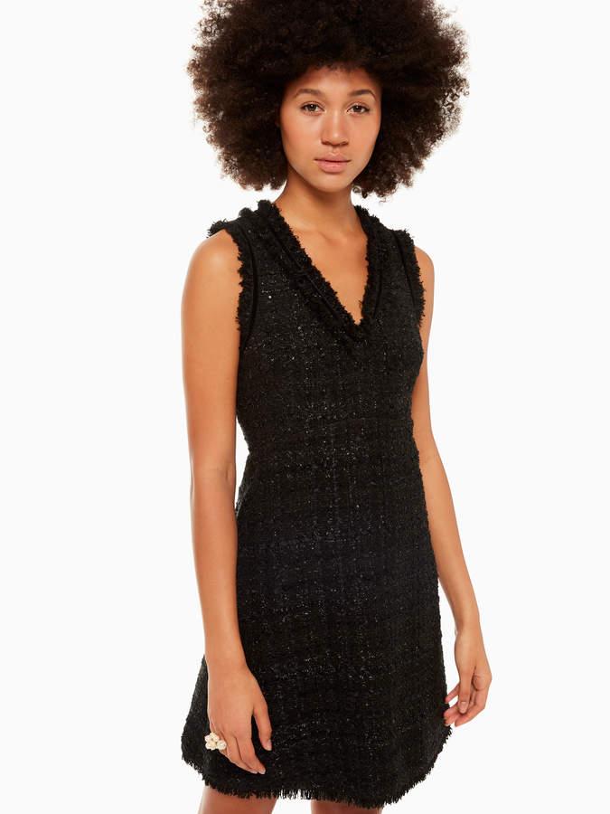 Kate Spade sparkle tweed dress