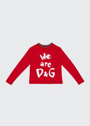 Dolce & Gabbana Kid's We Are Logo Printed Shirt, Size 8-12