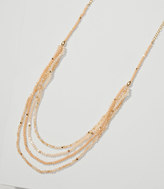 LOFT Blush Multistrand Beaded Necklace
