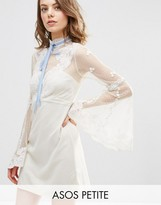 Asos High Neck Edwardian Mini Babydoll Dress