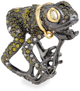 Alexis Bittar Crystal-Encrusted Frog Ring