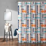 Lush Decor Sports Shower Curtain