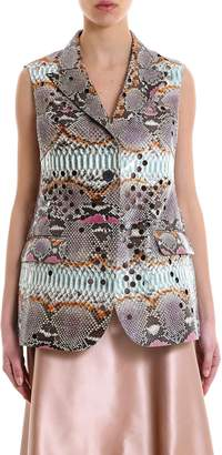 Salvatore Ferragamo Python Buttoned Vest