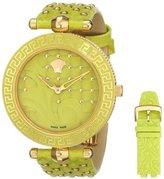 Versace Women's VK7110014 VANITAS Analog Display Quartz Green Watch