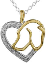 JCPenney FINE JEWELRY ASPCA Tender Voices 1/10 CT. T.W. Diamond Dog Heart Pendant Necklace
