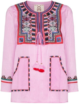Figue Lily embroidered stripe top