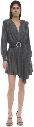 Philipp Plein Crystal Embellished Jersey Mini Dress