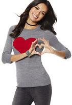 New York & Co. Waverly Crewneck Sweater - Heart Print