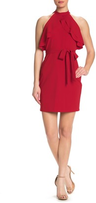 Bebe Ruffled Halter Dress