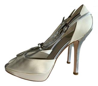 Christian Dior Ecru Cloth Heels
