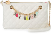 Betsey Johnson Give Me A B Quilted Crossbody Bag, White