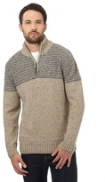 Mantaray Natural Wool Blend Funnel Neck Sweater