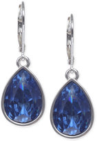 Nine West Silver-Tone Faceted Teardrop Earrings