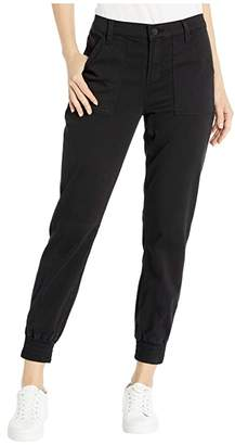 J Brand Arkin Zip Ankle Joggers (Black) Women's Casual Pants