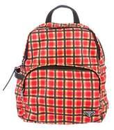 Prada Check Print Backpack