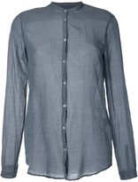 Massimo Alba micro pattern band collar shirt - women - Silk/Cotton - L