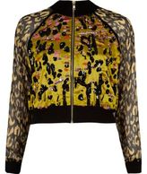 River Island Womens Yellow leopard print embellished shacket