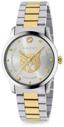 Gucci G-Timeless Steel Bracelet Watch