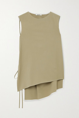 GAUCHERE Phila Convertible Open-back Wool-blend Top - Beige
