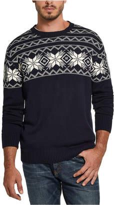 Weatherproof Vintage Men Snowflake Pattern Sweater