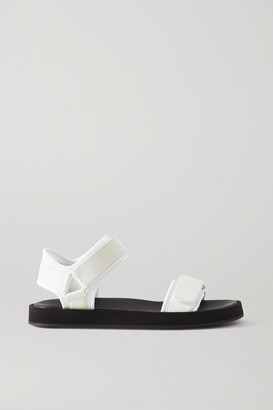 The Row Hook And Loop Leather And Neoprene Sandals - White