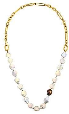 Lizzie Fortunato Women's Harbor Goldplated & Multi-Pearl Collar Necklace