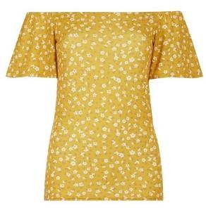 Dorothy Perkins Womens **Tall Yellow Ditsy Print Top