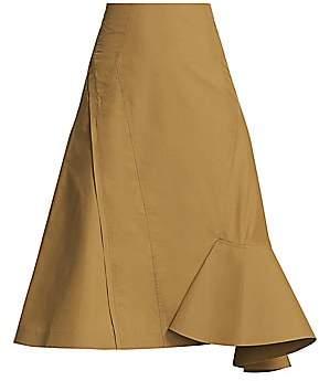 3.1 Phillip Lim Women's Bonded Ruffle Hem Midi Skirt - Size 0