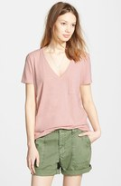 Madewell Women's 'Whisper' Cotton V-Neck Pocket Tee