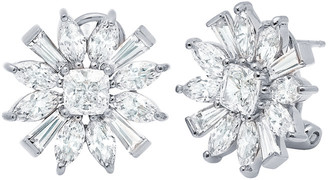 Crislu Silver Cz Earrings