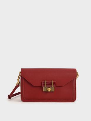 Charles & Keith Stone-Embellished Envelope Bag