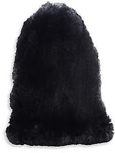 Surell Women's Rabbit Fur Slouch Beanie