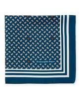 Ermenegildo Zegna Small Leaves Silk Pocket Square