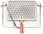 Dorothy Perkins White Laser Cut Cross Body Bag