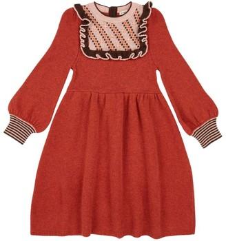 Caramel Merino Wool Nightingale Dress (3-6 Years)