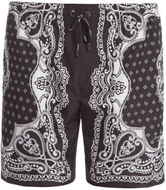 Dolce & Gabbana Bandana-Print Swim Shorts