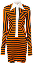 Givenchy striped panelled dress - women - Spandex/Elastane/Viscose - 36